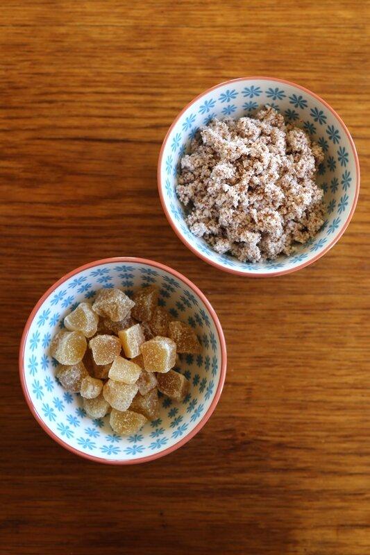 muffins okara amande gingembre confit6