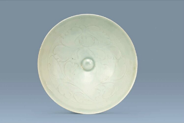 A carved Qingbai 'peony' bowl, Song Dynasty (960-1279)