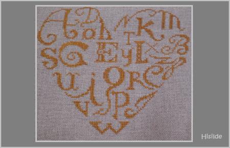 coeur brodé alphabet