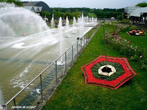 Les jets d'eau de la Beaujoire