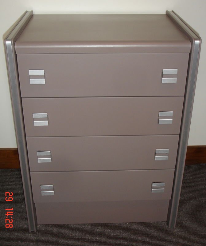 commode revisitee taupe - Meuble Peint Couleur Taupe