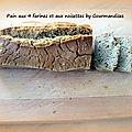 Pain aux 4 farines et aux noisettes ( sans gluten)