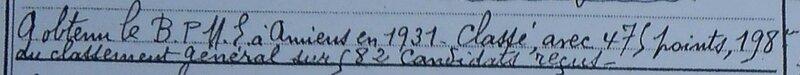 Brevet professionnel 1931
