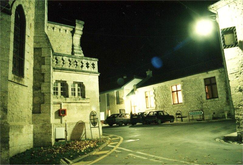 Centre bourg de nuit