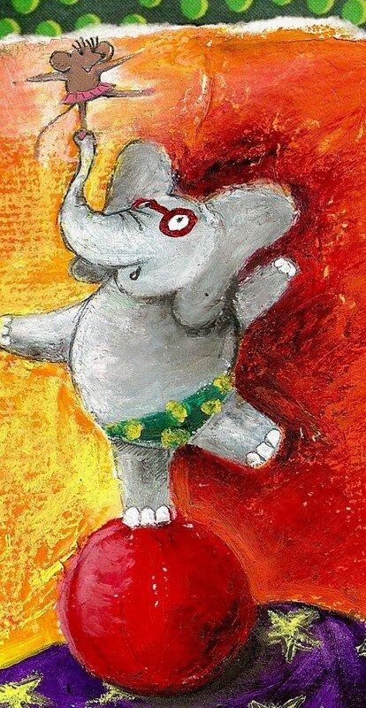 elephant et souris en equilibre