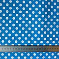 2 - coton bleu gros pois blancs