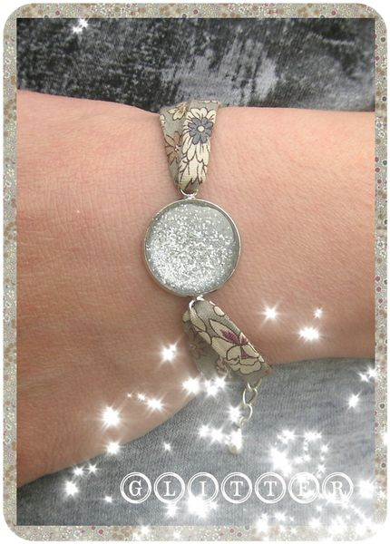 glitter bracelet lecien gris