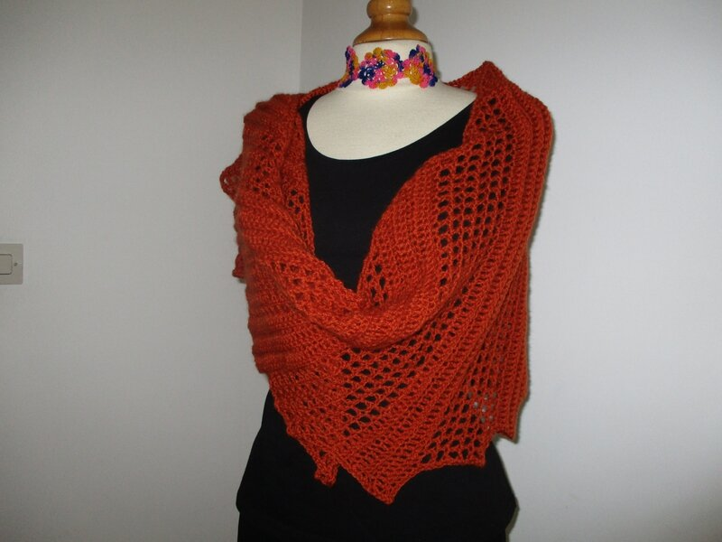 Etole asymétrique angora orange (2)