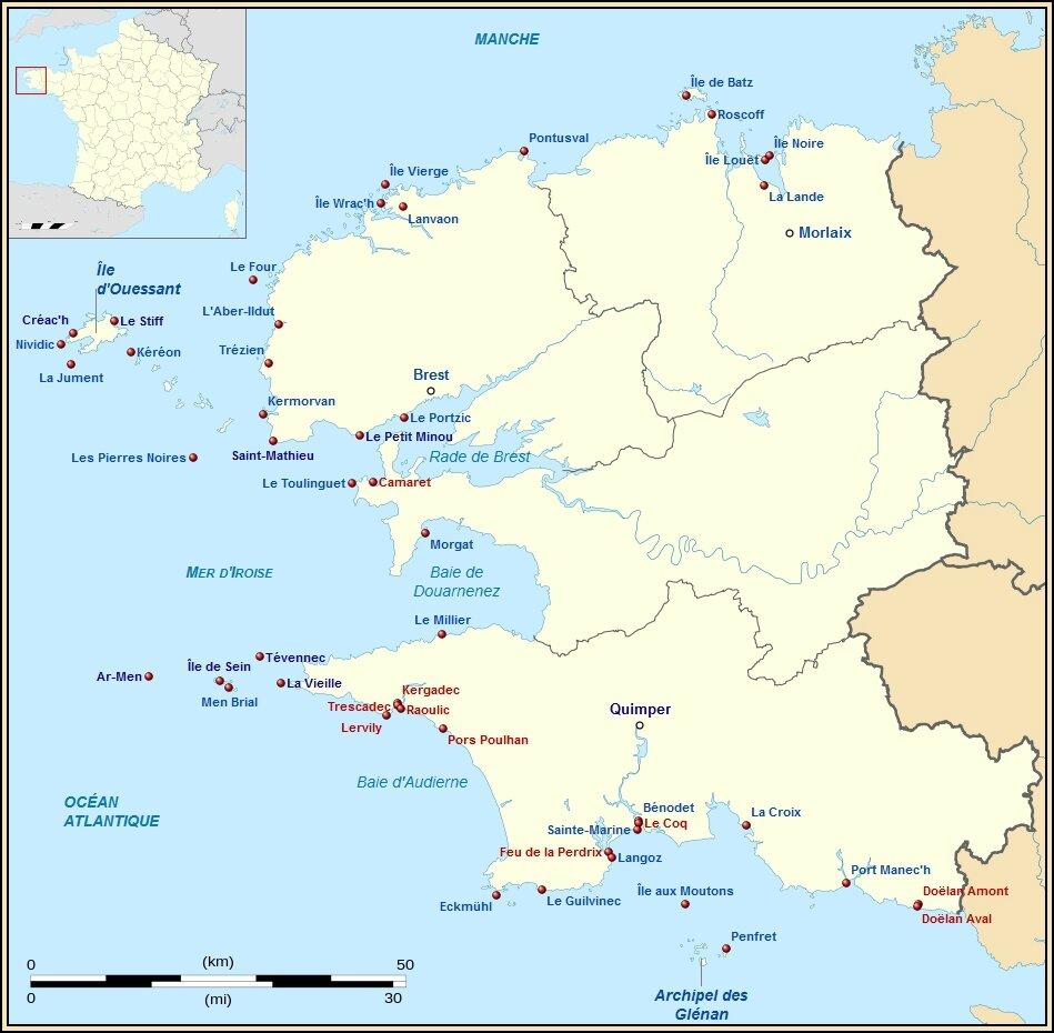 Phares en Bretagne   Phares du Finistère   Phares du Morbihan