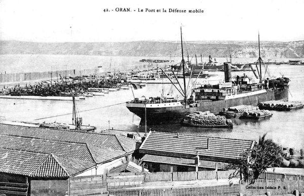 Oran- 146- travail sur les quais