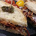 Sandwich saumon-tartare d'algues
