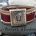 Chic et original, ce bracelet multirangs et son fermoir poinçonné !