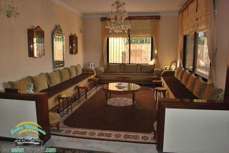 Salon marocain oriental salon marocain moderne for Salon de the orientale
