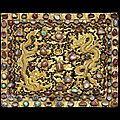 A pair of gold pillow ends, ming dynasty, xuande reign (1425-1435)