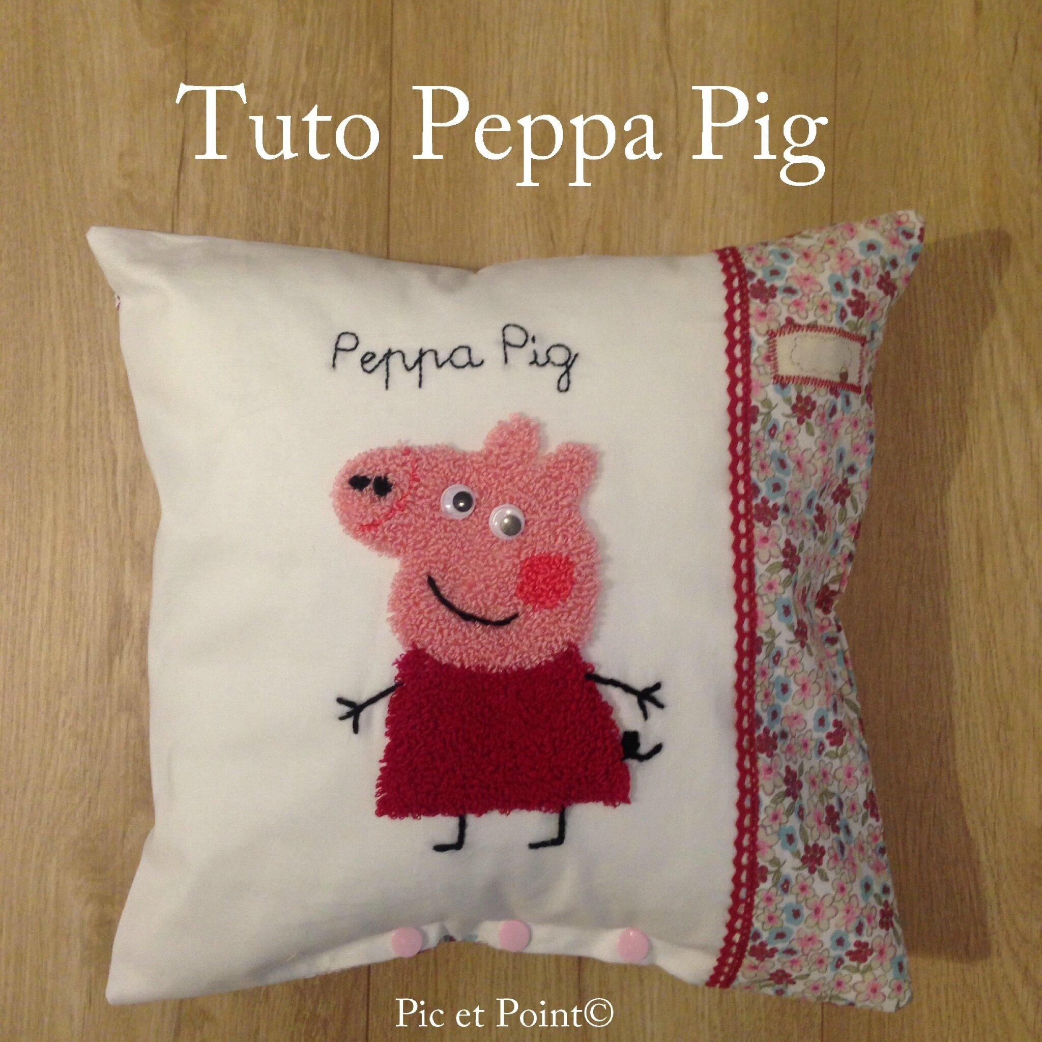 Tuto Peppa Pig Punch Needle...