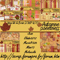 Méga kit automne sweetness forum scrap& co