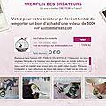 Votez pour moi et tentez de gagner un bon d'achat de 500 euros ! ! !