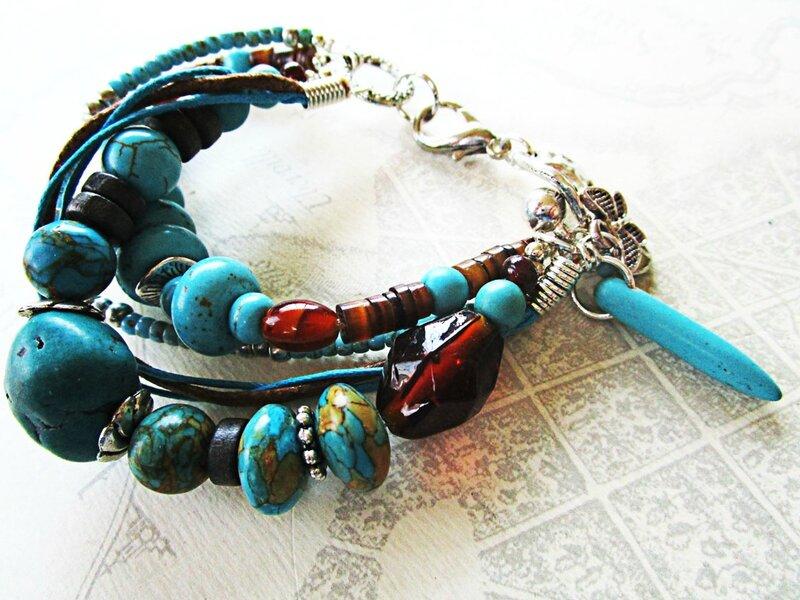 bracelet boho turquoise 002