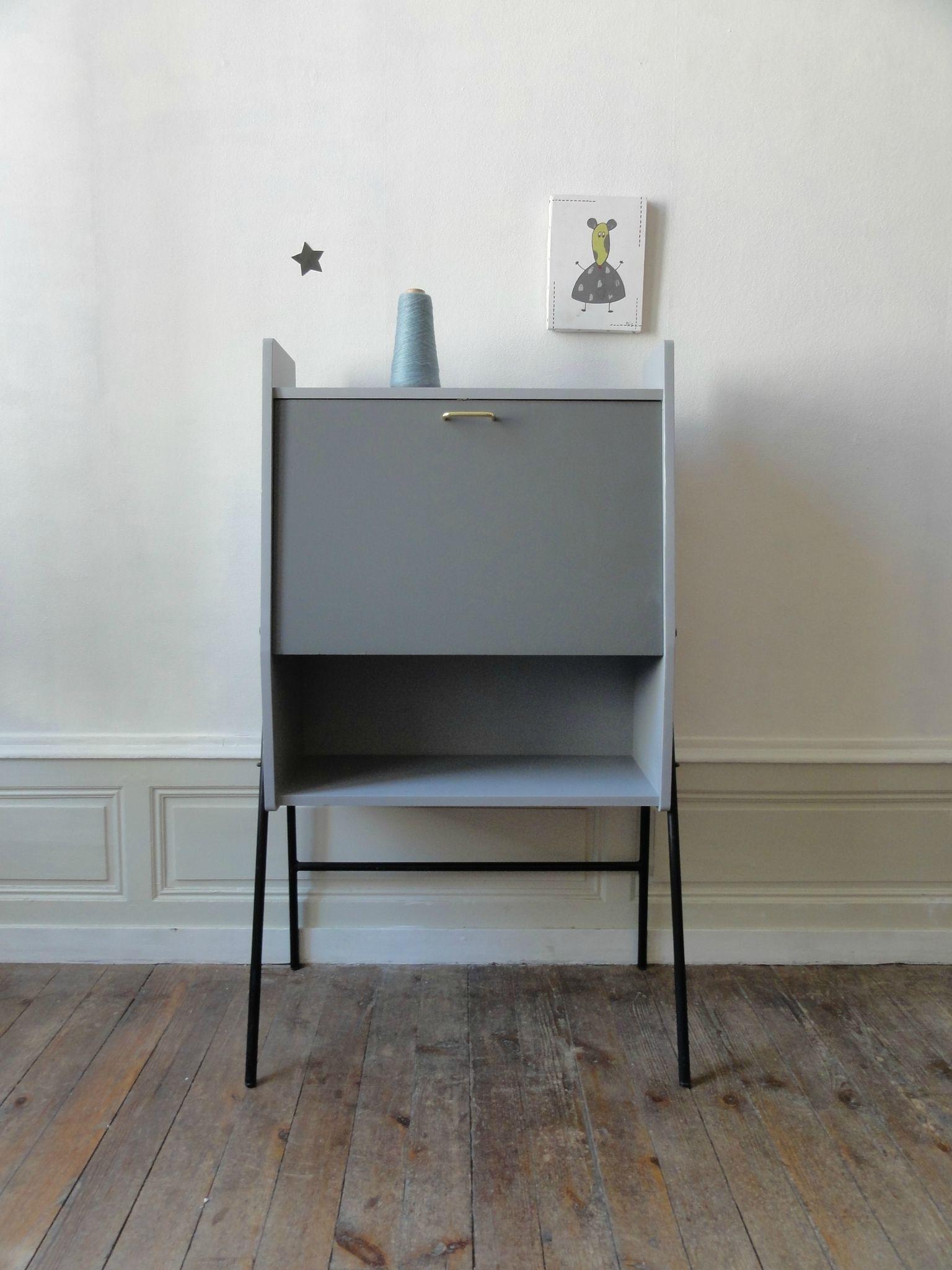 secretaire 50 39 s de style hitier vintage moi. Black Bedroom Furniture Sets. Home Design Ideas