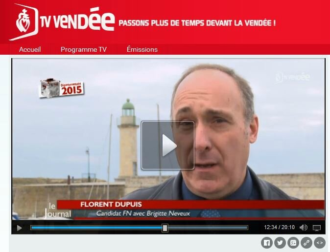 Candidats Cantonales 2015: F. Dupuis et B.Neveux (Canton Saint-Hilaire-de-Riez) Vendée