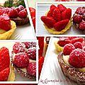 Tartelettes à la fraise et aux framboises