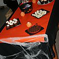 Sweet table et buffet halloween