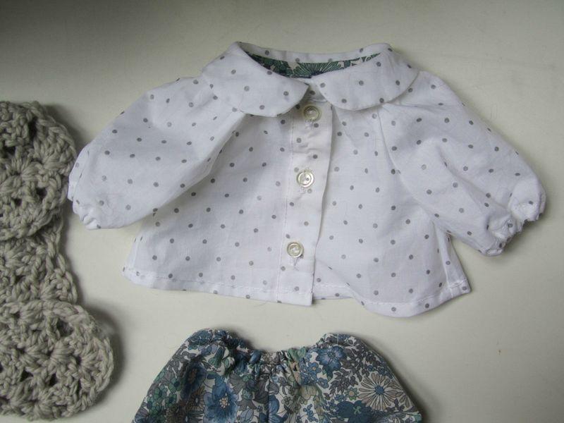 Blouse ODETTE pour petite poupée (4)