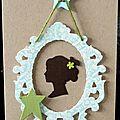 Des consignes ... un cadre baroque ... une carte d'anniversaire un brin rétro !