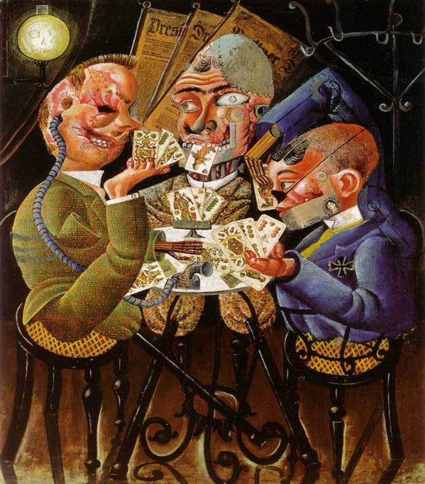 Otto Dix Les Joueurs De Skat3
