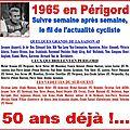 Ça s'est passé en perigord, il y a 50 ans...semaine du 20 au 26 avril 1965