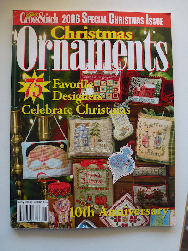 CHRISTMAS ORNAMENTS JUST CROSSSTITCH MAGAZINE 2006