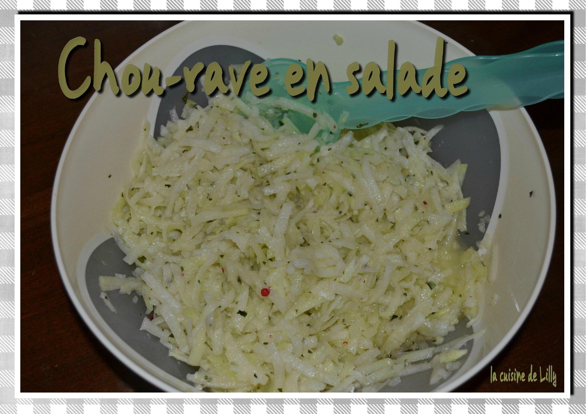 Chou rave en salade la cuisine de lilly - Cuisiner le choux rave ...
