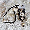 Collier noir sacré - haute-couture