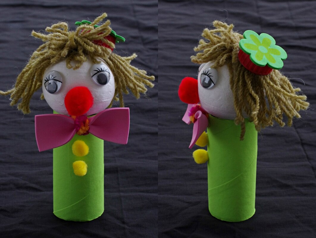 Un petit clown facile faire little red for Petit bricolage facile