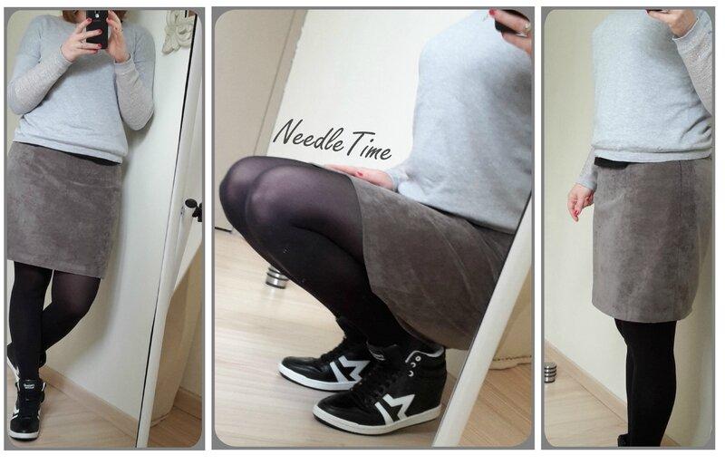 Jupe velours gris - Simplicity #1
