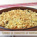 Crumble courgettes et parmesan