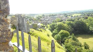 Corfe from the castle