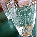 verre dépareillés gravés