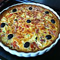 Quiche courgettes/tomates/bacon et jambon