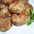 Boulettes d'inspiration italienne...cuite au four.