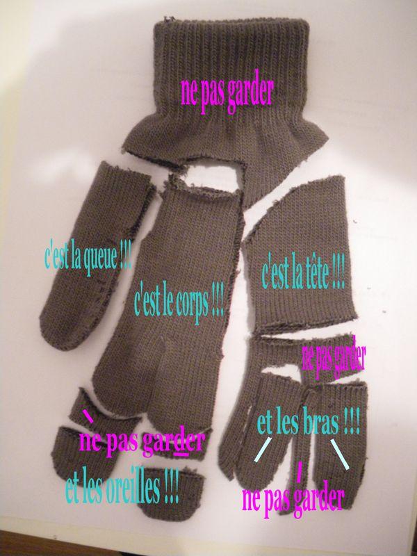 comment faire un doudou avec un gant gant tuto doudou gant st phanie bricole. Black Bedroom Furniture Sets. Home Design Ideas