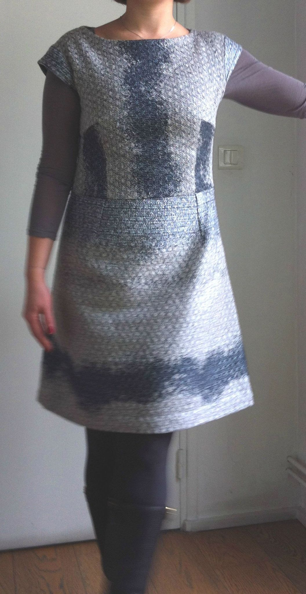 Hiver robe sans manche