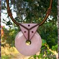 donut quartz rose bélière triangle face rose