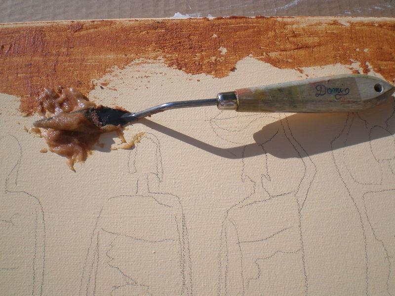 tableau peinture sur sable