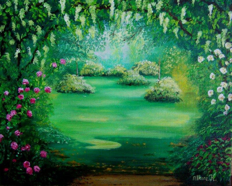 Rendez vous au jardin les peintures de karine for Rendez vous au jardin