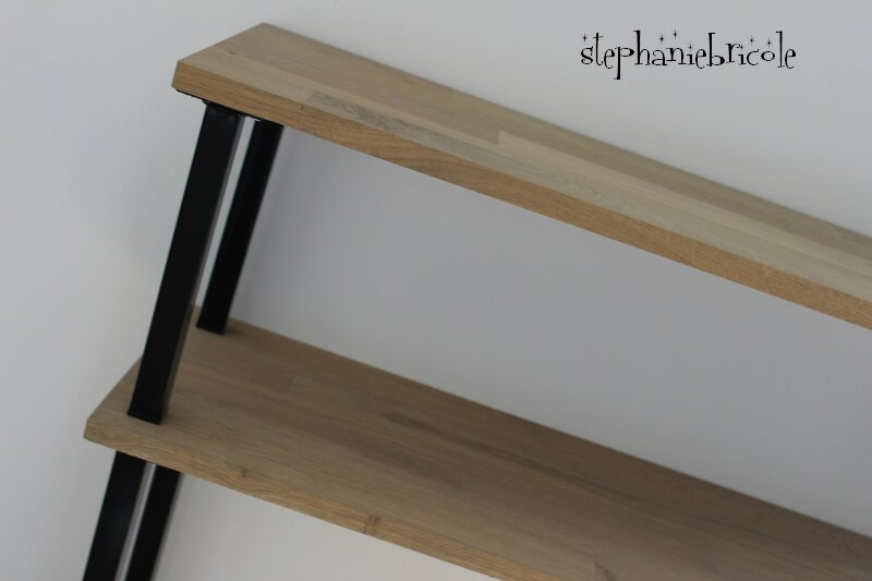 Diy d co faire un meuble console au style industriel soi - Modele de console meuble ...
