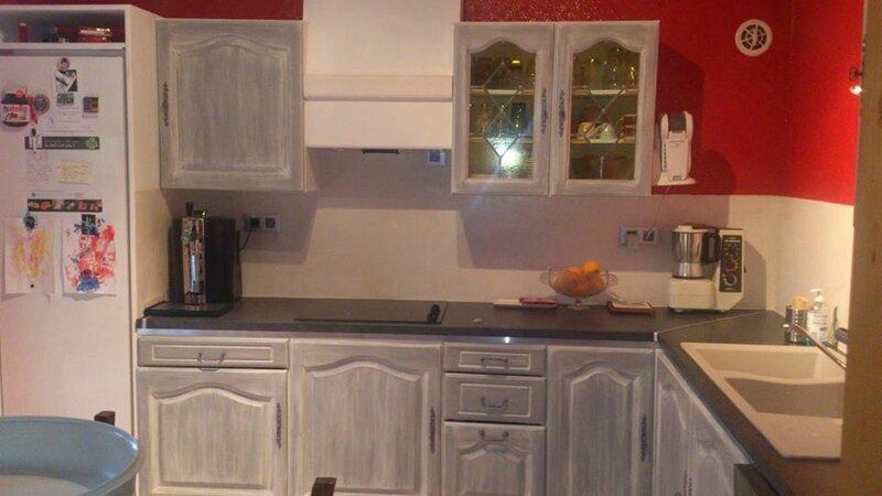 Trompe l 39 oeil en carrelage pour salle de bain design cuisine sur le iop - Relooking cuisine chene ...