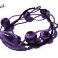 bracelet oeil violet