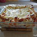 Lasagnes au surimi et poivron rouge