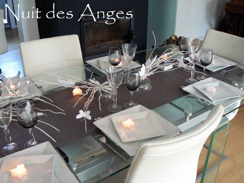 Nuit des anges décoratrice de mariage décoration de table papillons 011